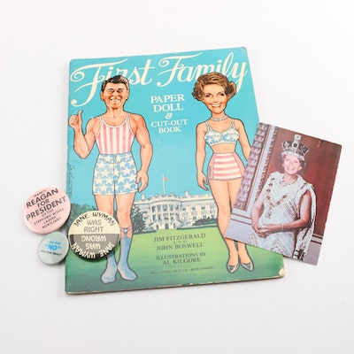 Satirical President Ronald Reagan and Mrs. Nancy Reagan Memorabilia