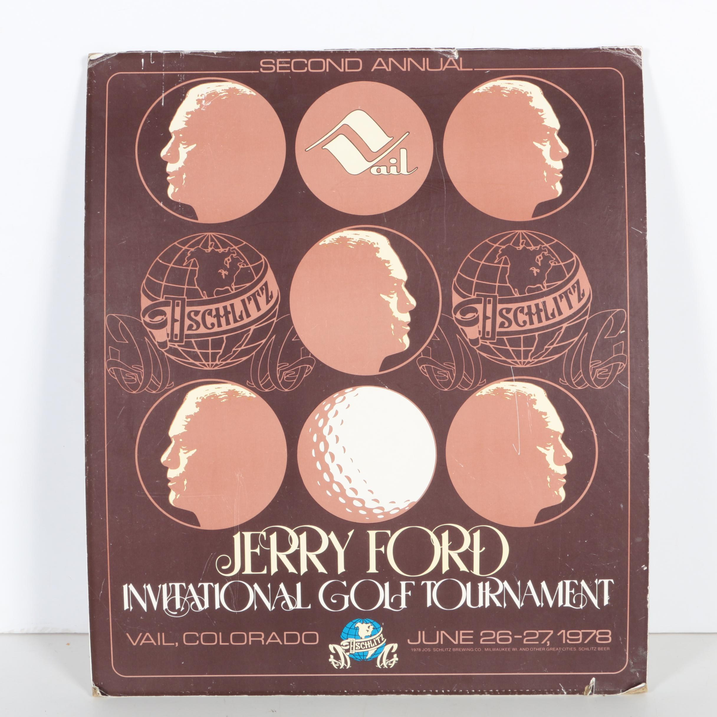 1978 Jerry Ford Invitational Golf Tournament Poster