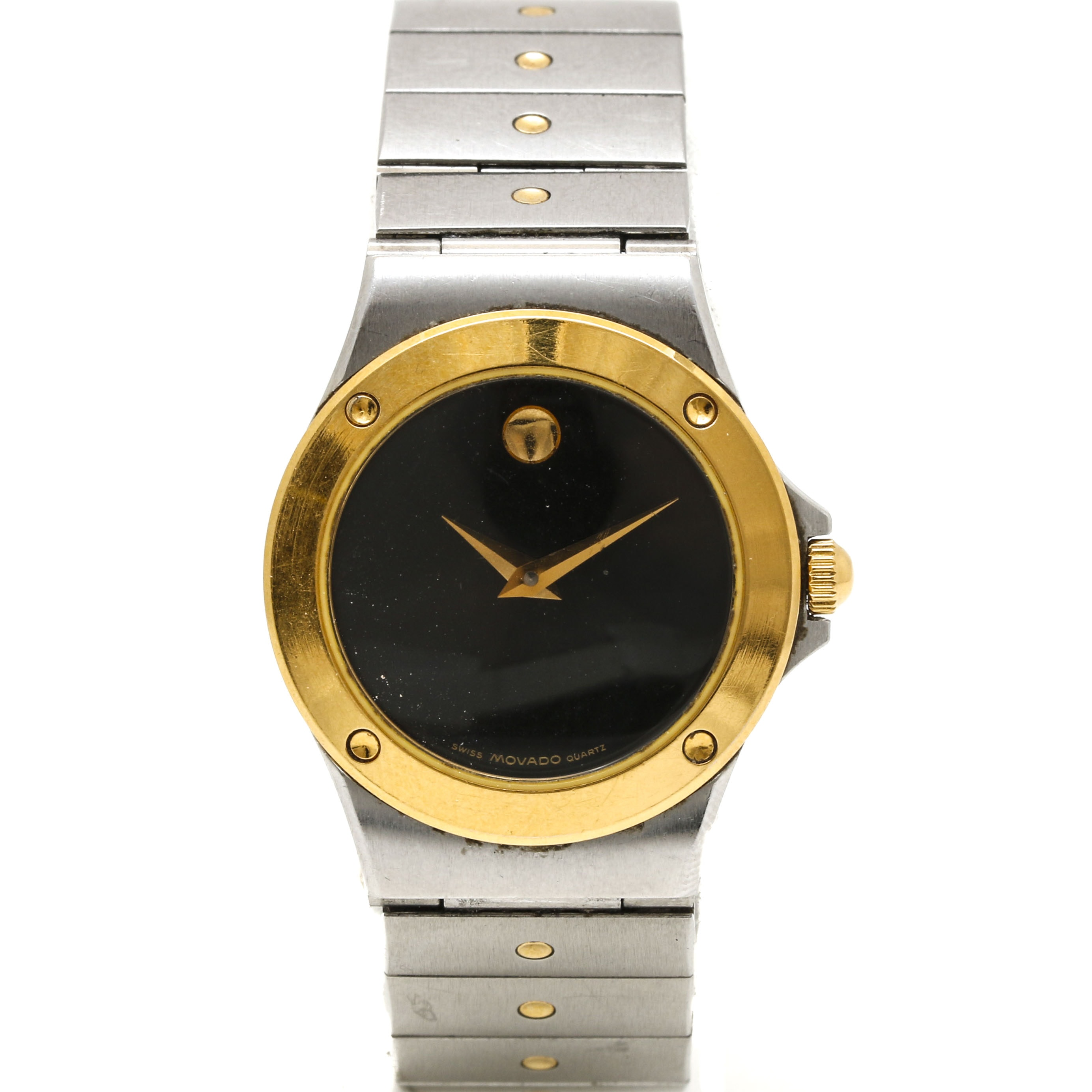 Movado Two Tone Museum Dial Wristwatch