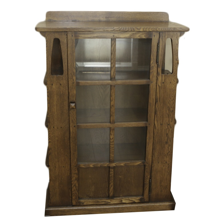 Arts and Crafts Style Oak Bookcase After Limbert