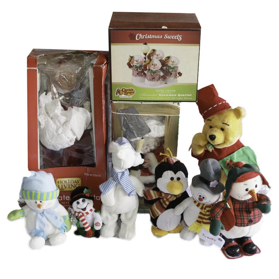 Group of Animated Christmas Figurines