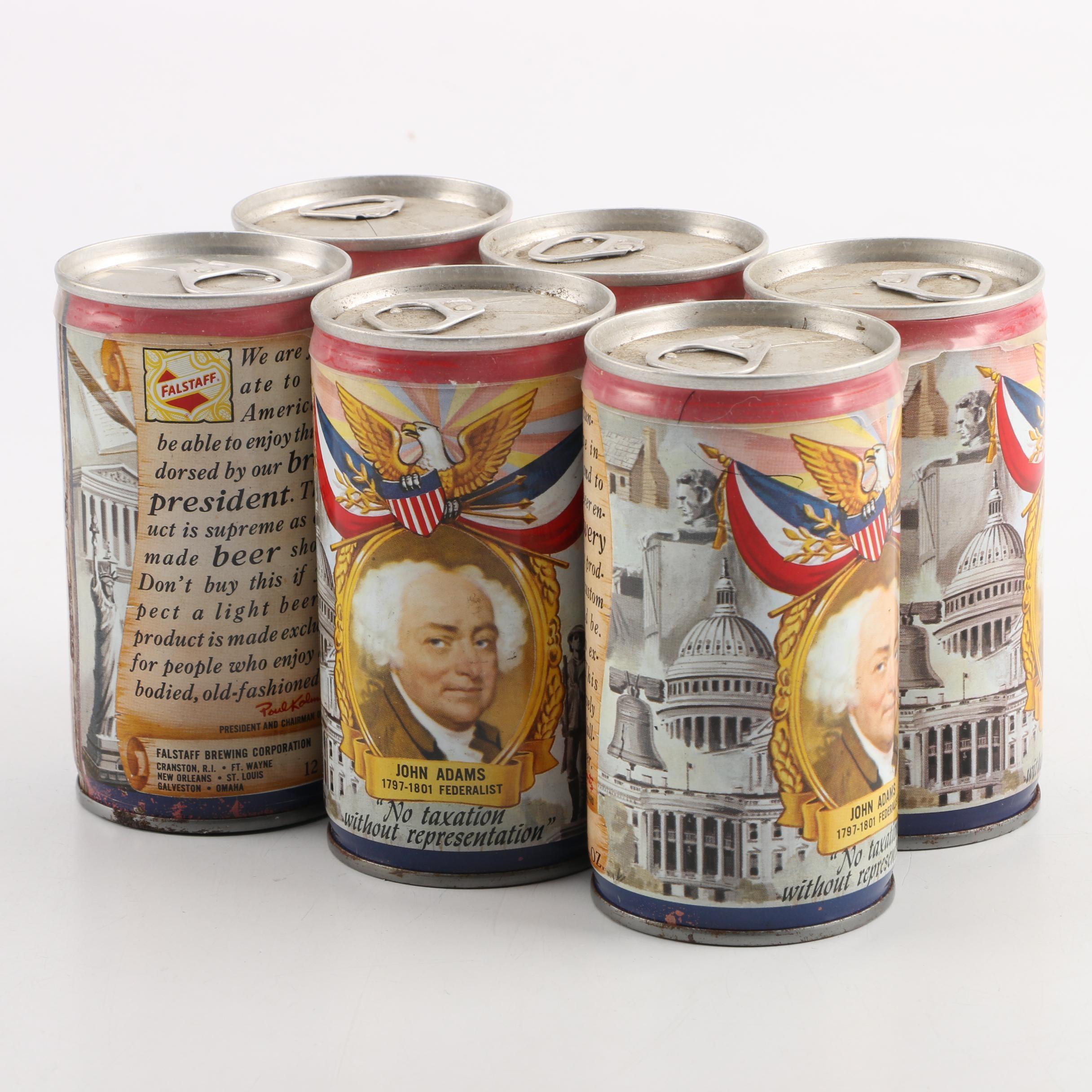 Falstaff Brewing John Adams Federalist Beer Can Six Pack