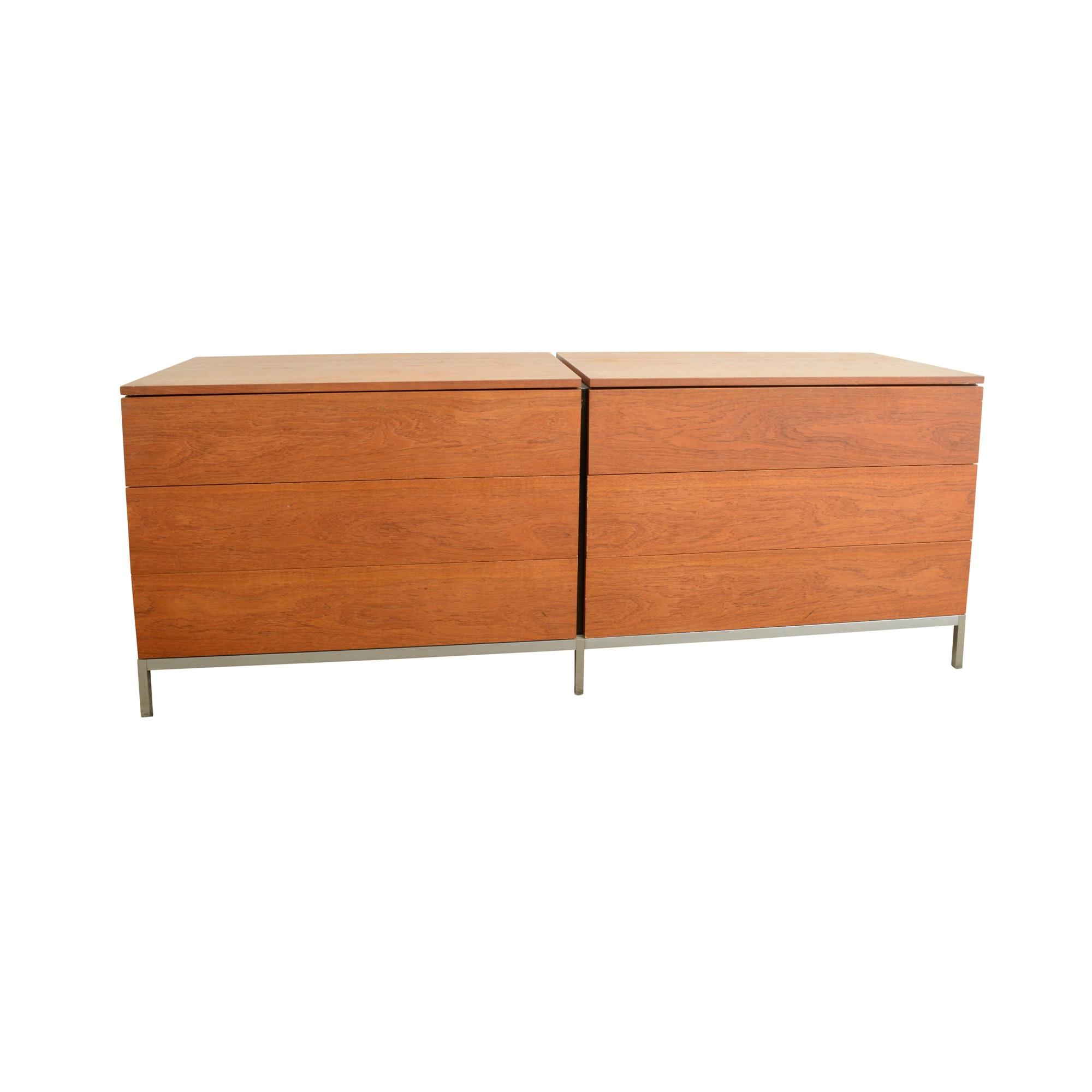 Knoll Mid Century Modern Walnut Dresser
