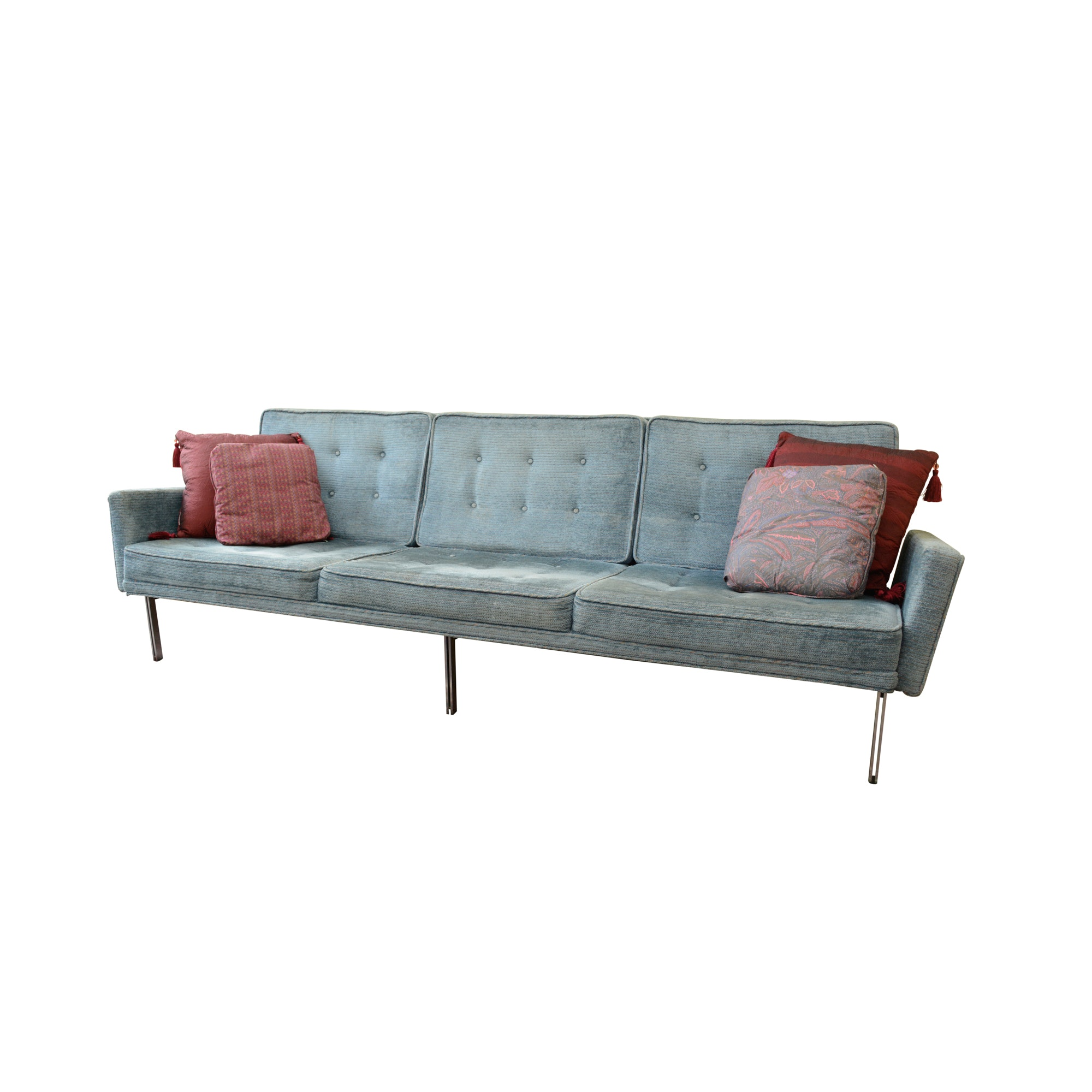 Simple Elegant Florence Knoll Mid Century Modern Parallel Bar Sofa Elegant - Amazing mid century sleeper sofa Photos