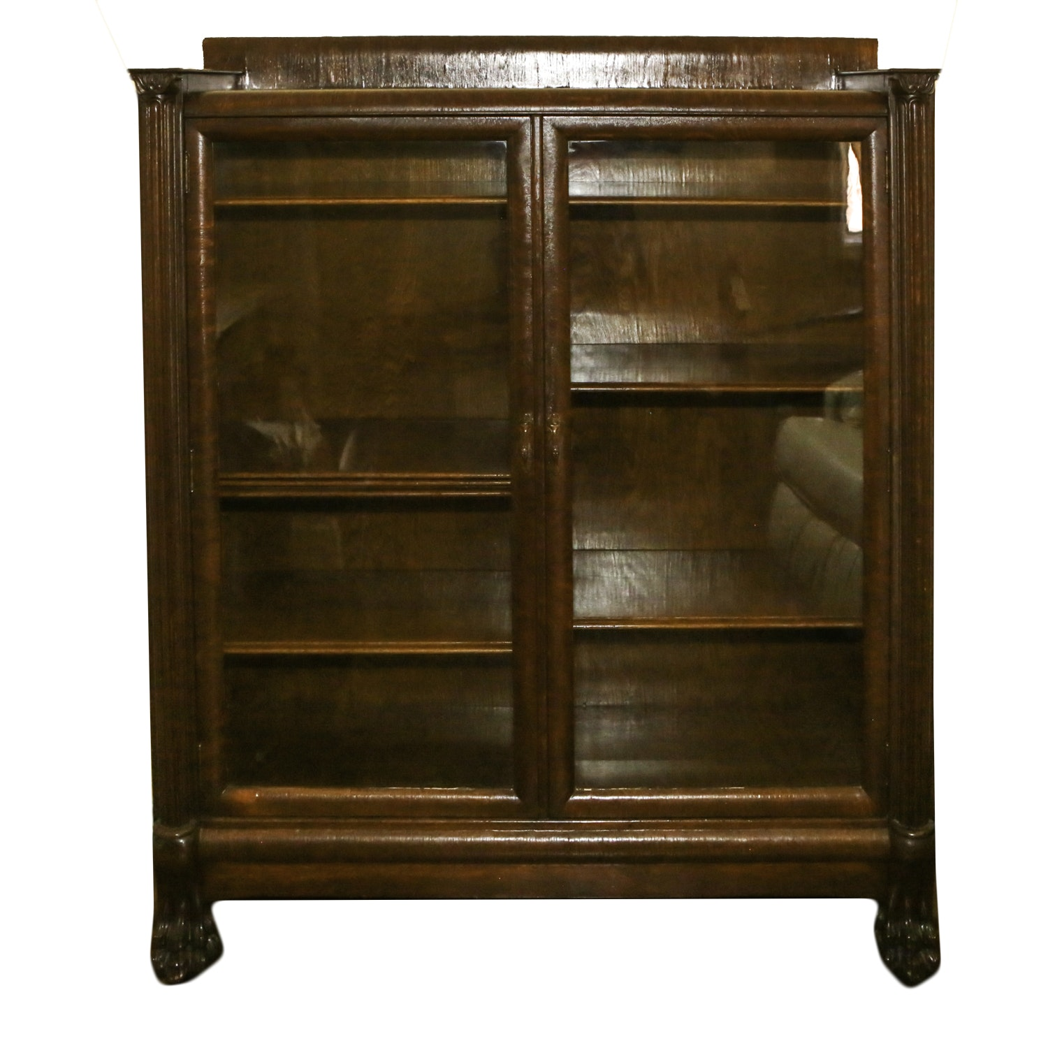 Antique Colonial Revival Style Display Cabinet