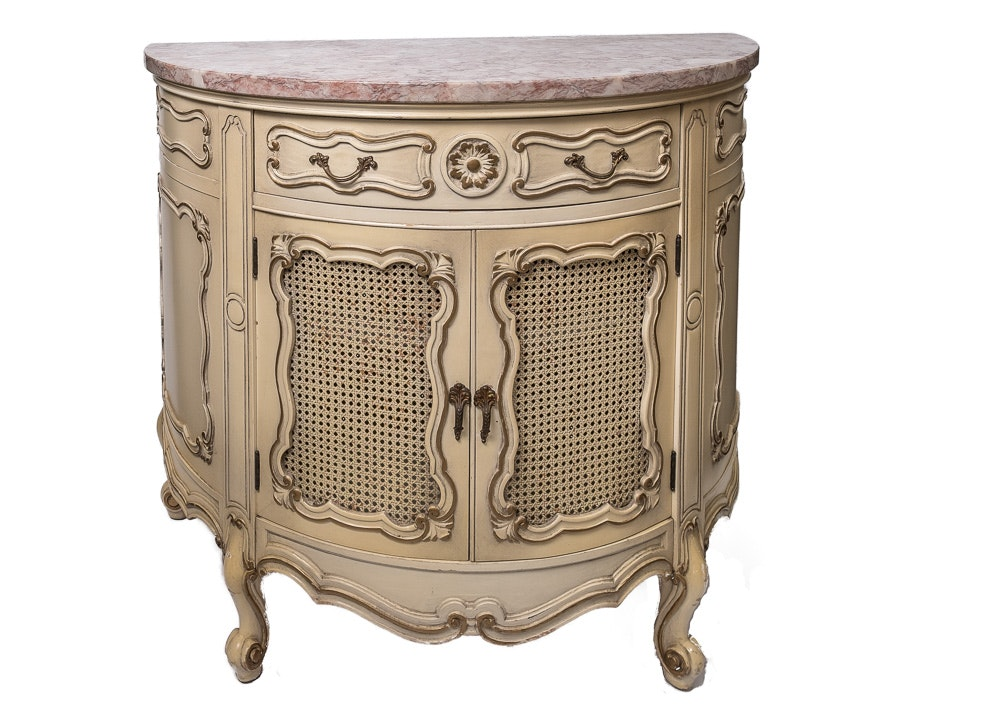 Painted French Louis XV Style Cabinet