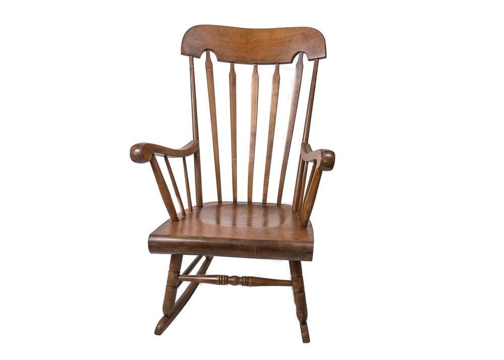 Arrow-Back Rocking Chair