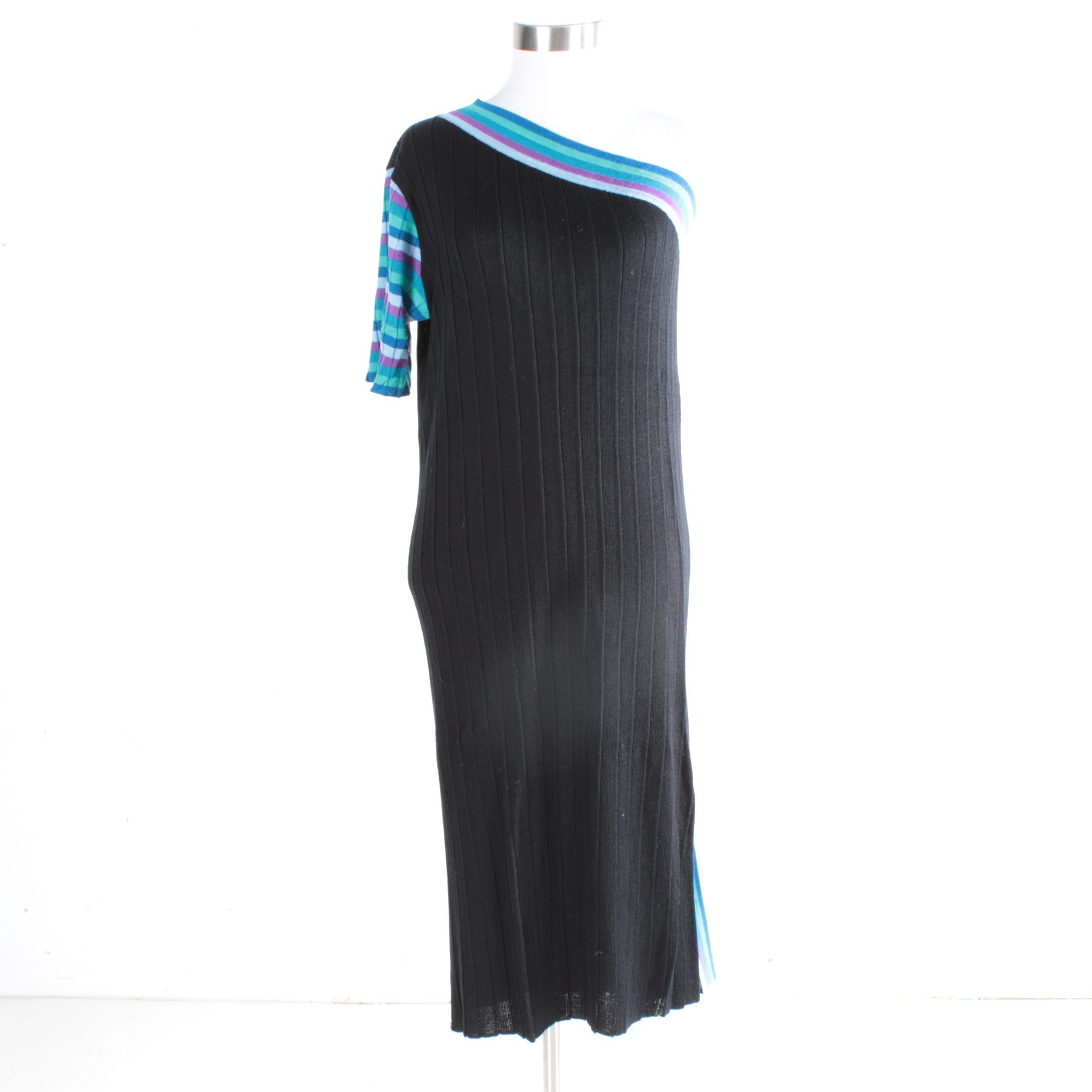 Vintage Yves Saint Laurent Tricot Knit Dress