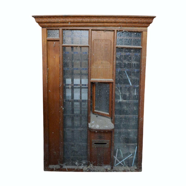 Vintage U.S. Post Office Box Window