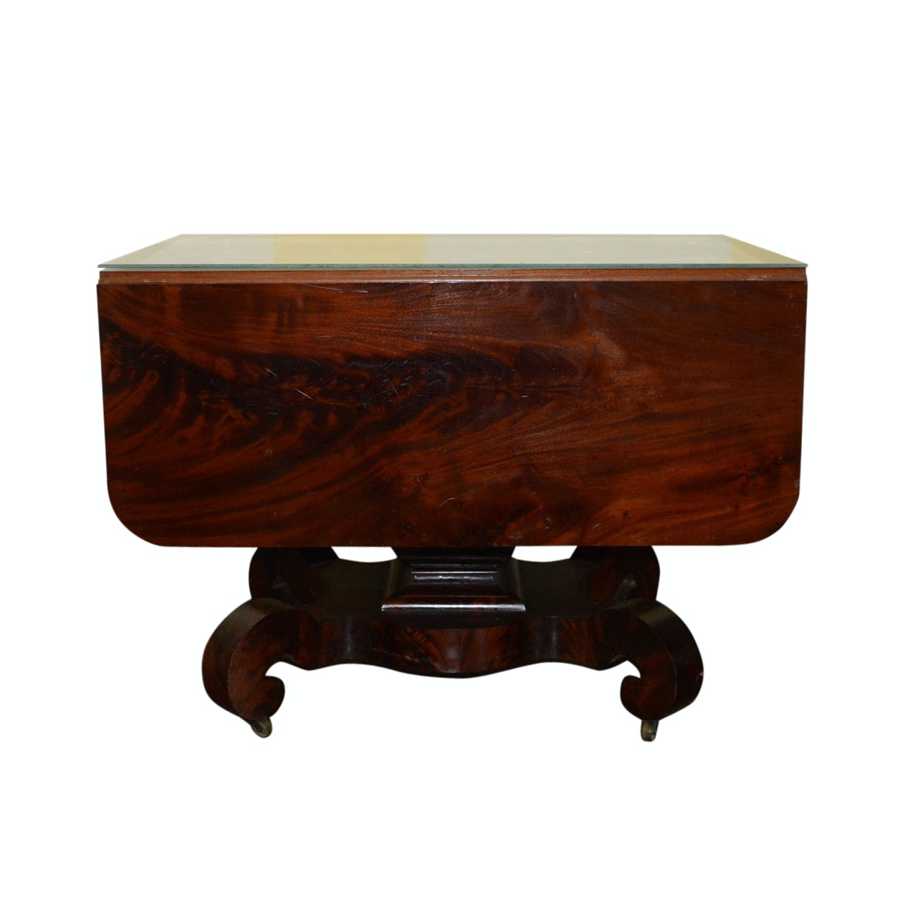 American Empire Style Mahogany Drop Leaf Table
