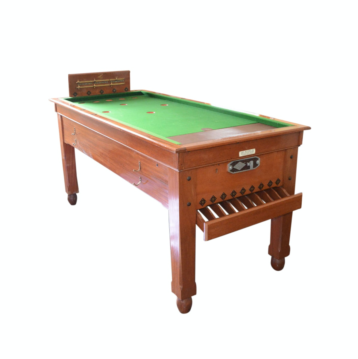 """Vintage English """"Skittles"""" Game Table by Sams Brothers"""