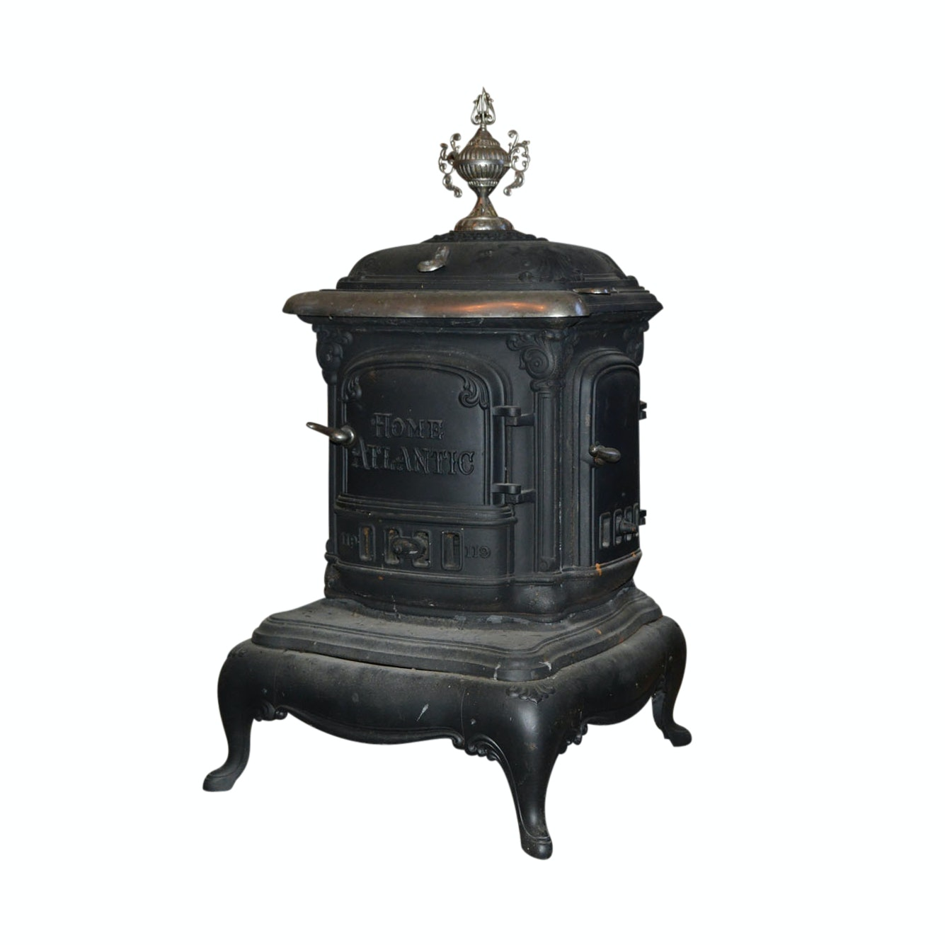 "Antique ""Home Atlantic"" Parlor Stove by Portland Stove Foundry"