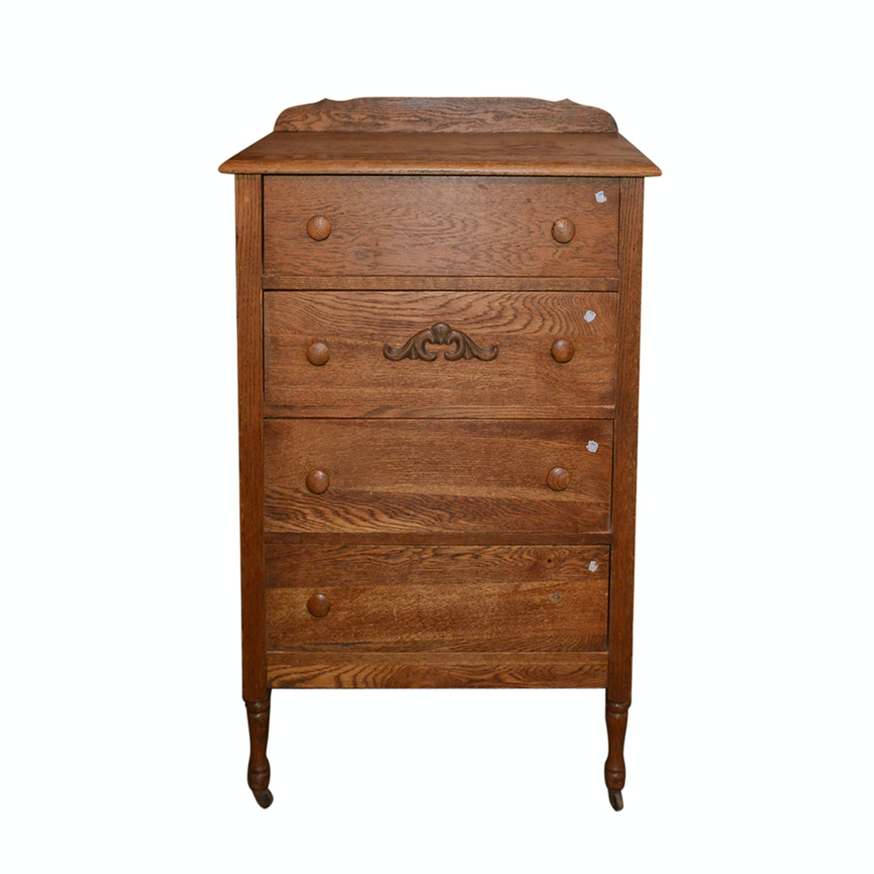 Provincial Style Oak Chest of Drawers