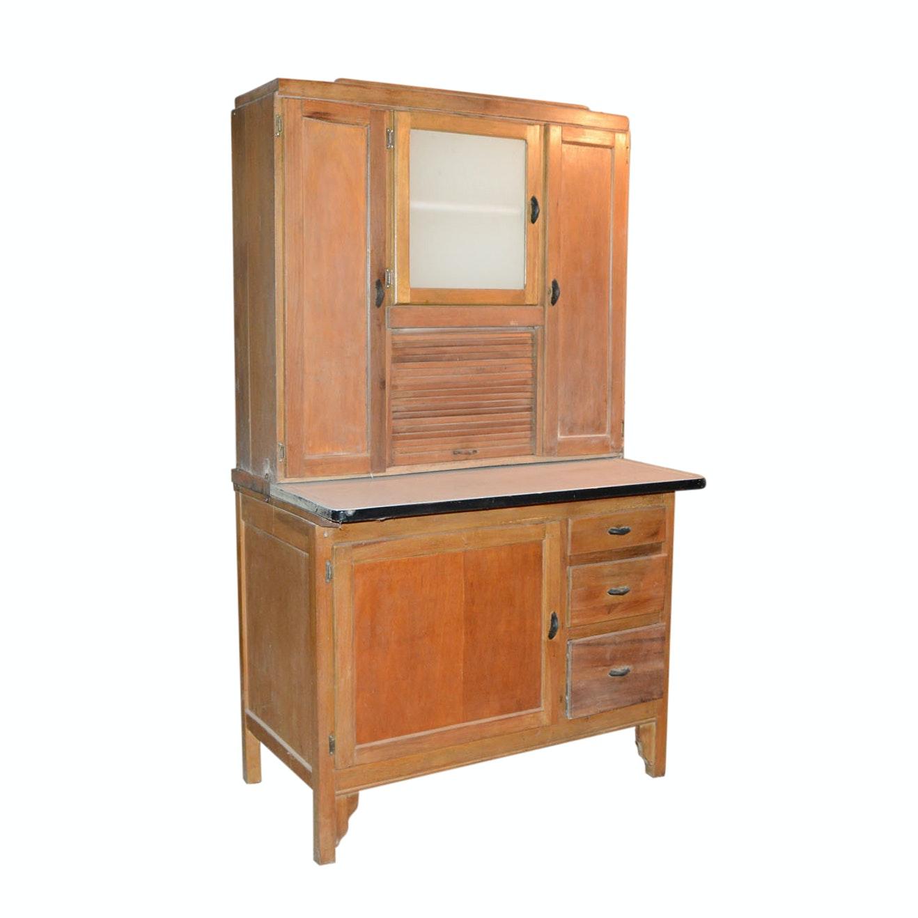 Gentil Vintage Hoosier Cabinet From Marsh Funiture Company ...
