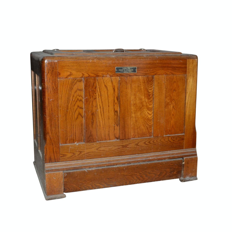 Antique Union Oak Ice Chest
