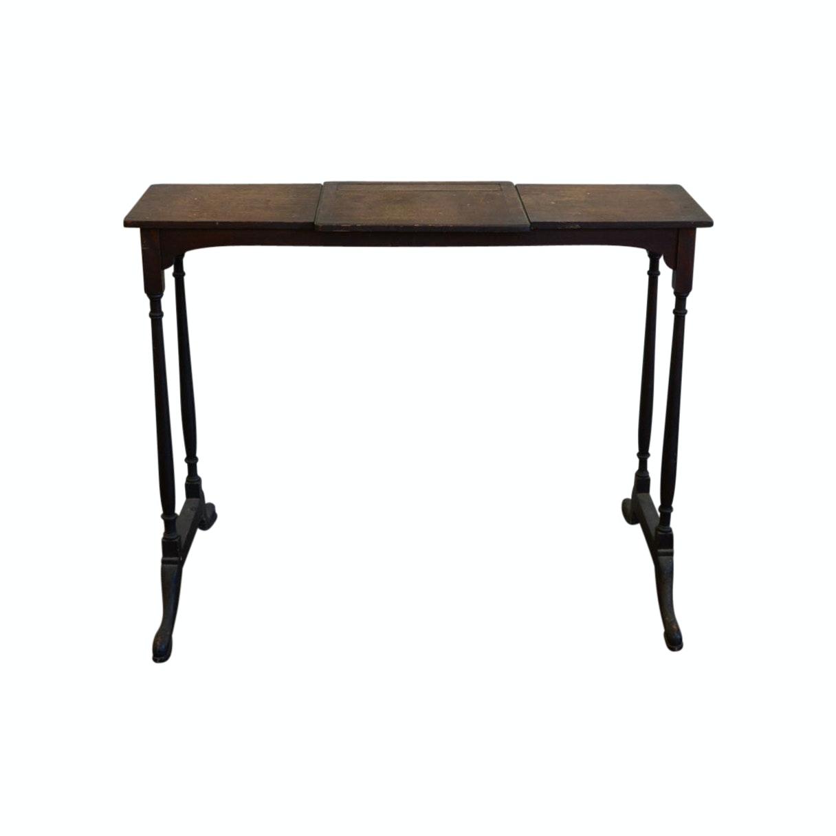 Vintage Adjustable Walnut Lectern Table