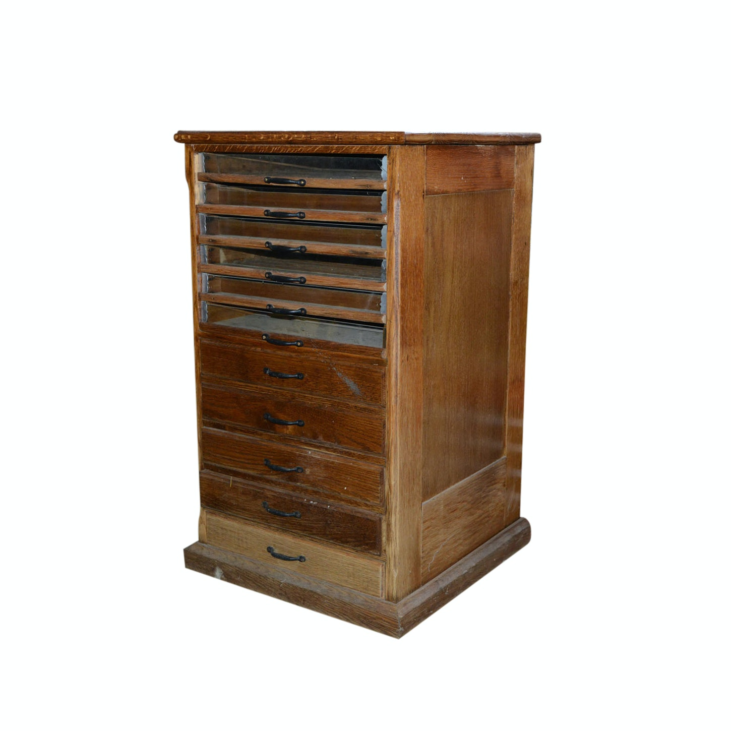 Vintage Glass Front Thread Cabinet