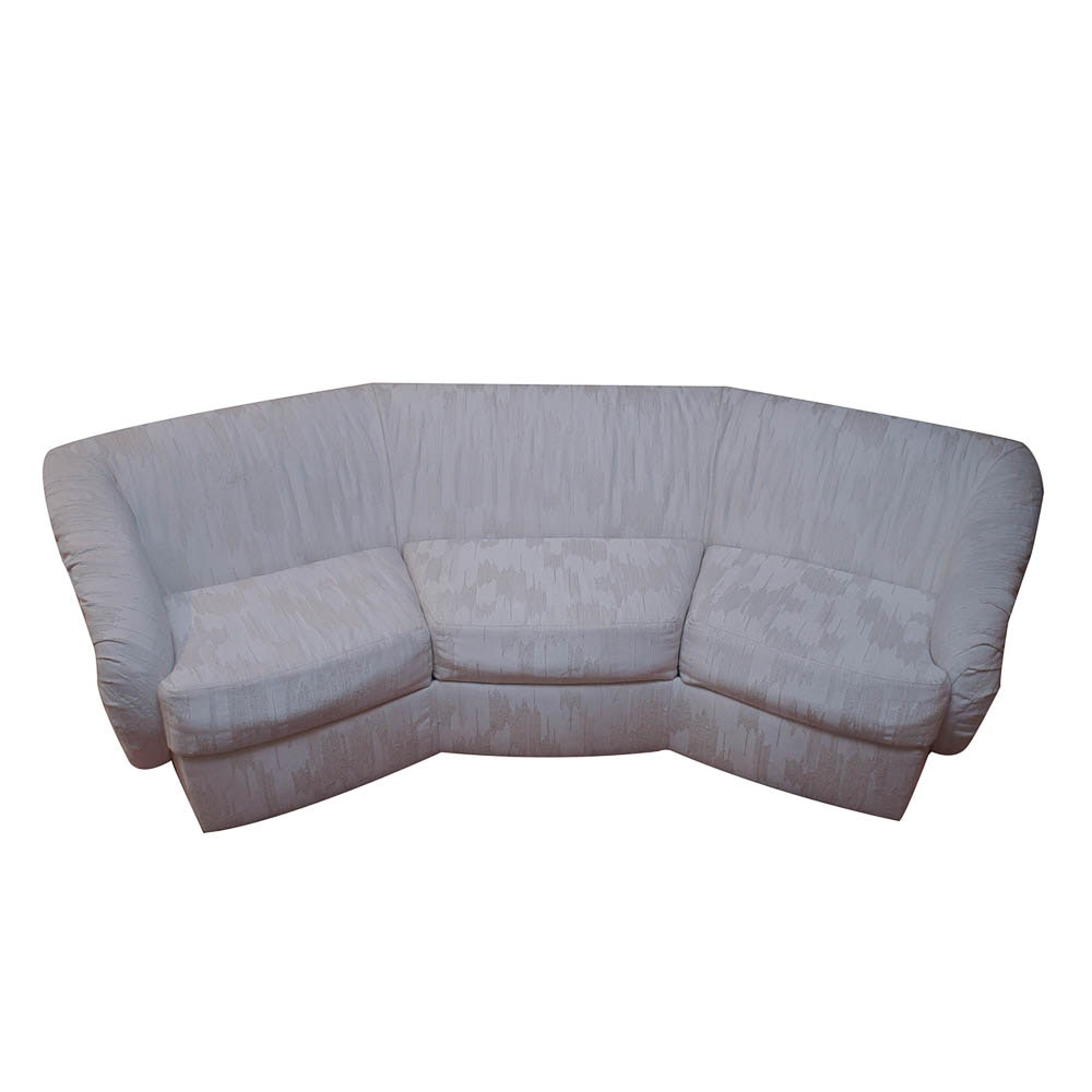 Modern Ivory Sofa by Carson's