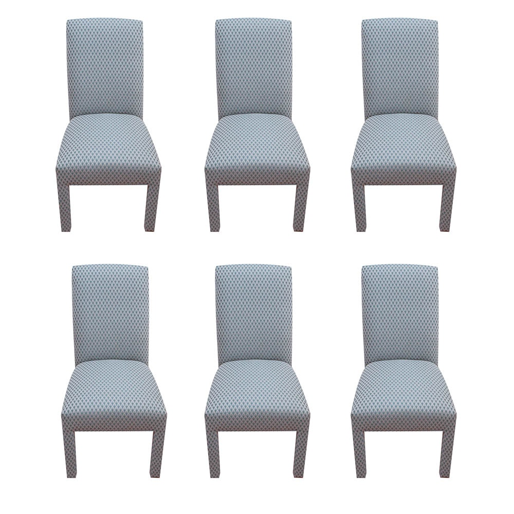 Set of Contemporary Upholstered Dining Chairs