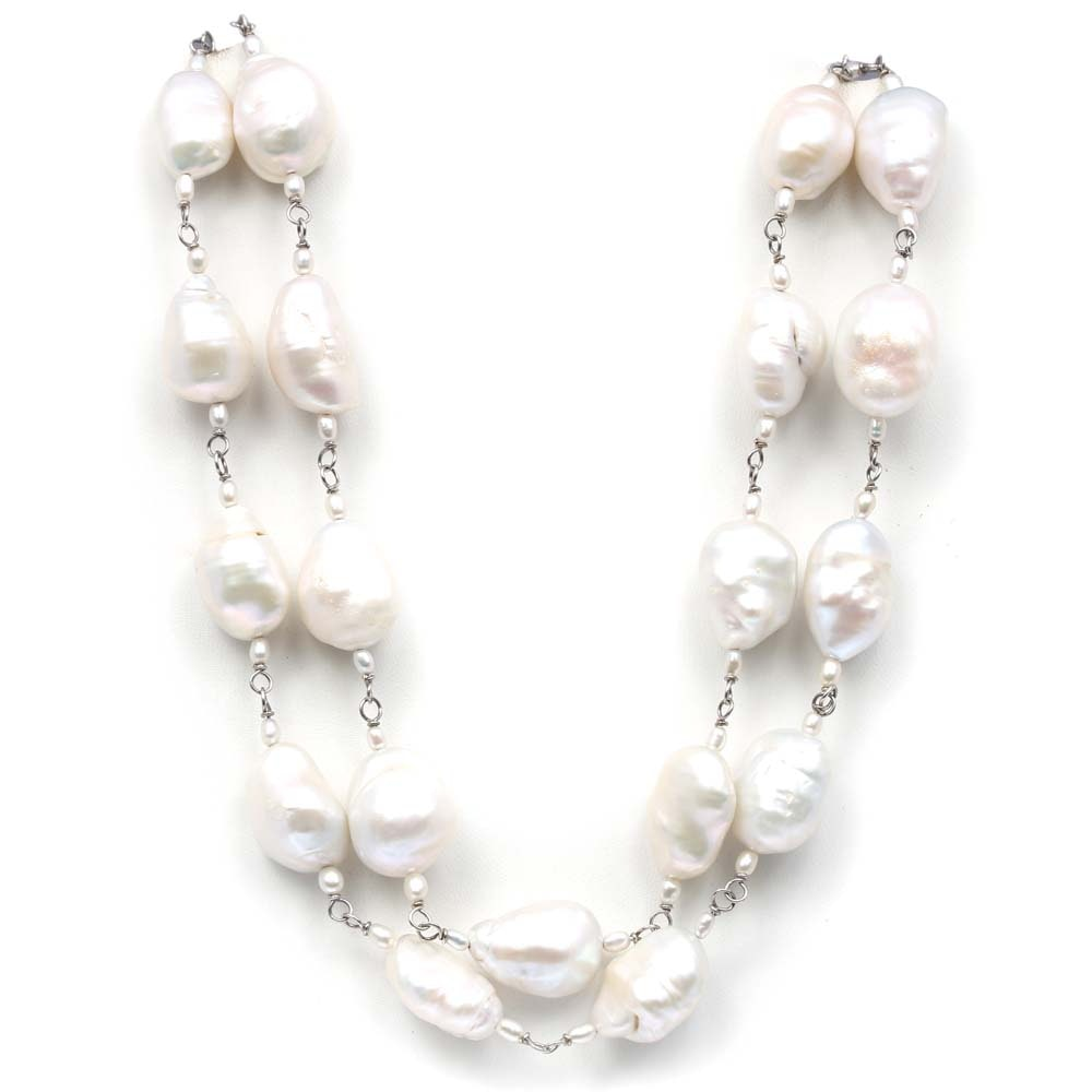 Sterling Silver Freshwater Pearl Strand Necklace