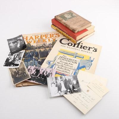 President Taft White House Dinner Invitation, Family Photos, Books and Ephemera