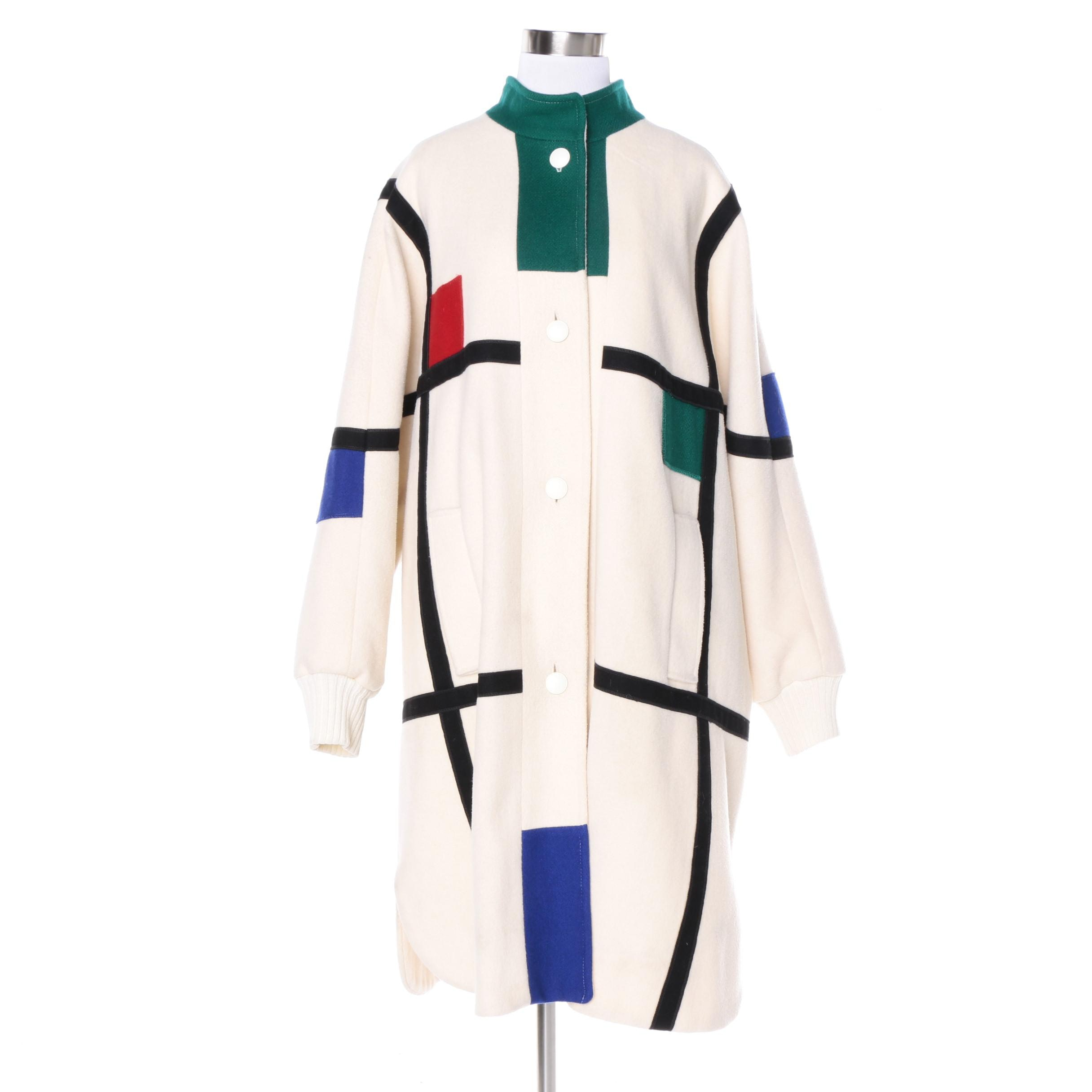 1980s Vintage Herman Kay Color Block Coat