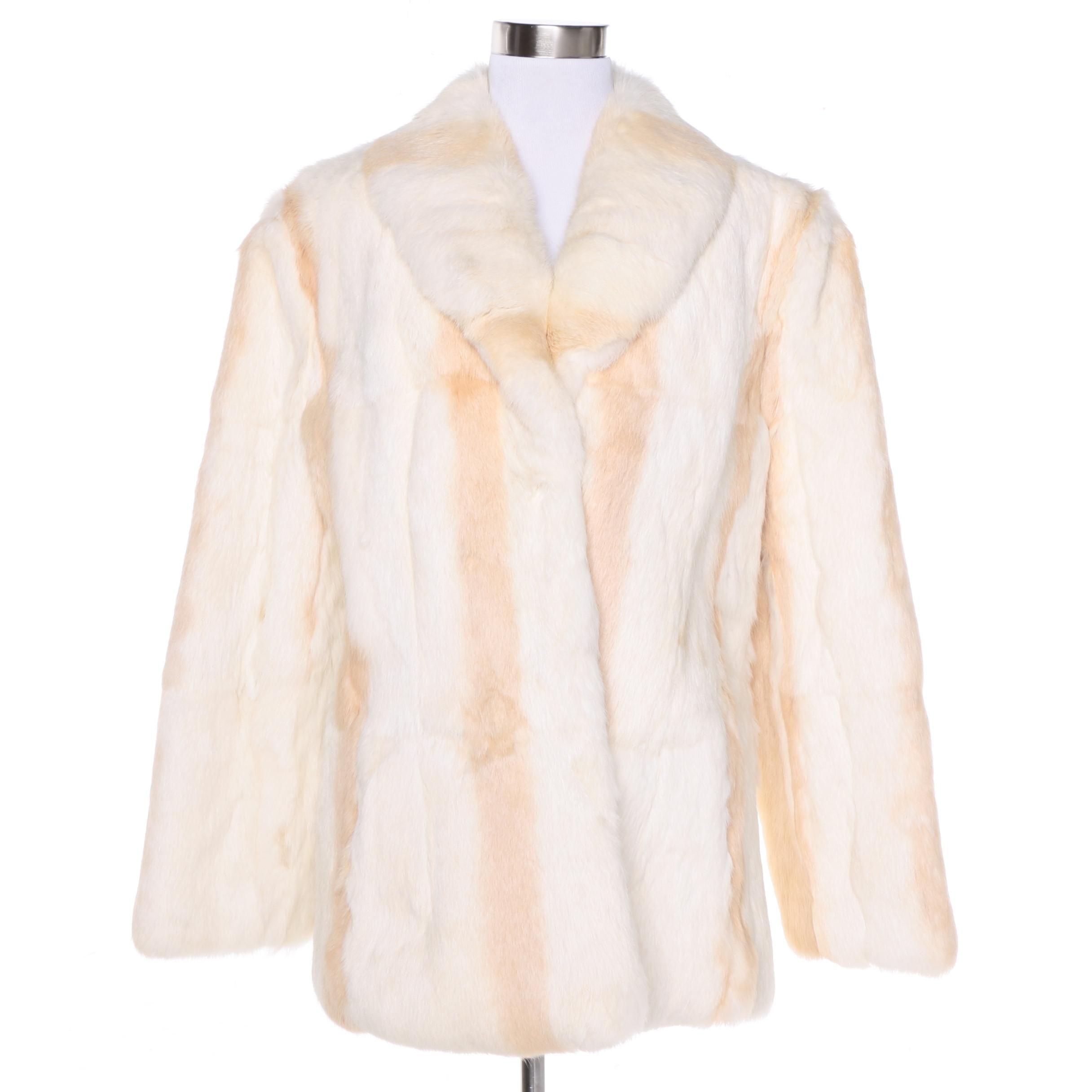Dyed Rabbit Fur Coat