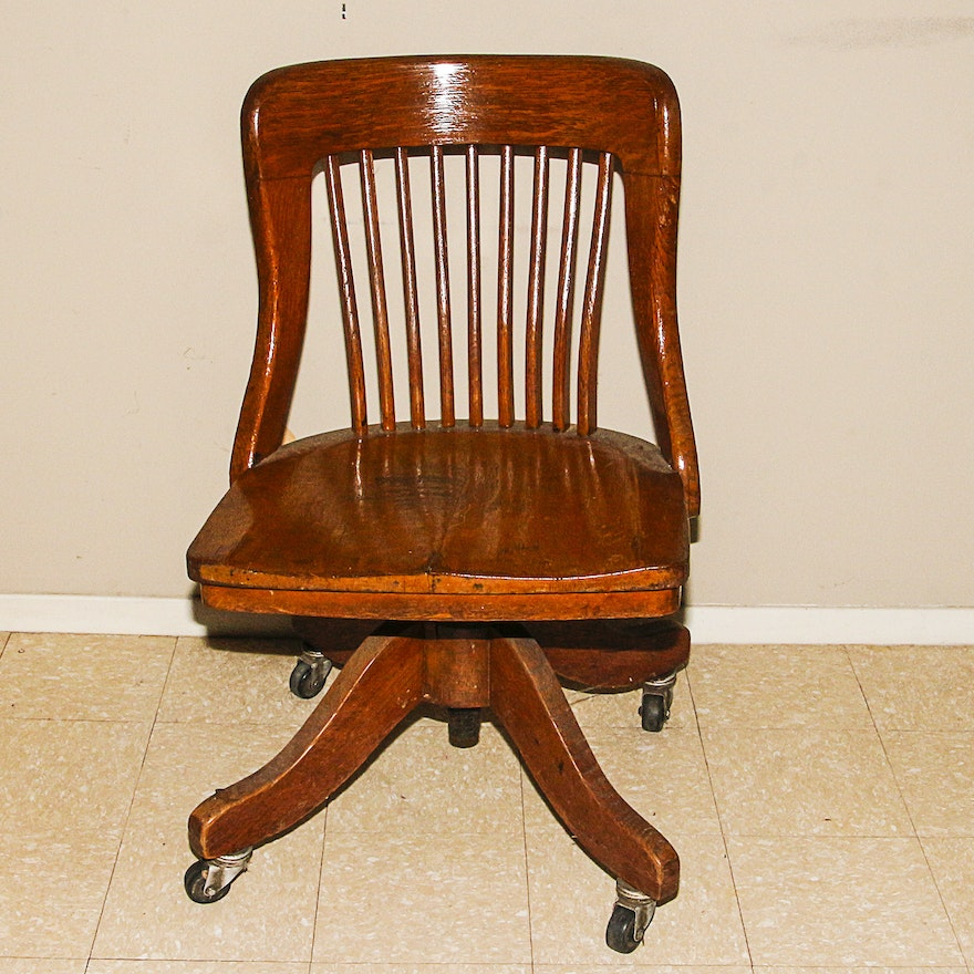vintage wooden office chair ebth