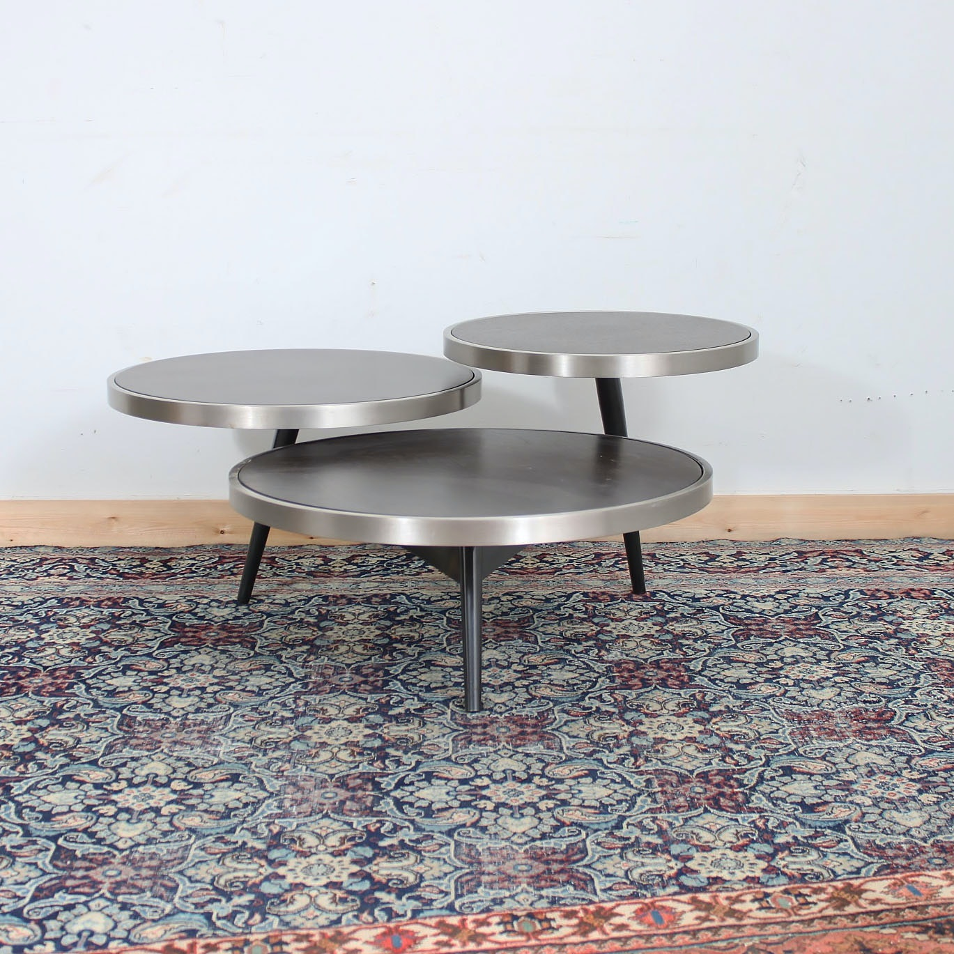 Modernist Tom Dixon Style Tiered Coffee Table