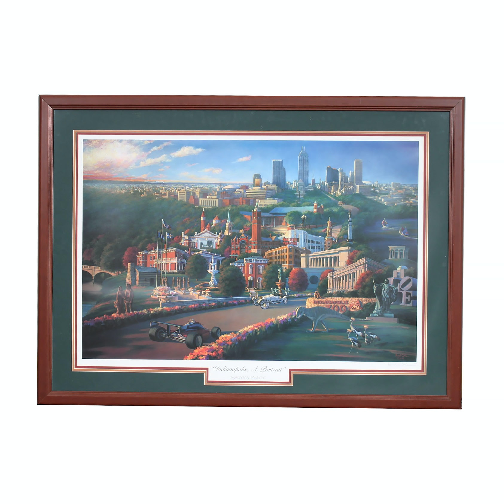 Framed Print of Indianapolis after Rush Cole