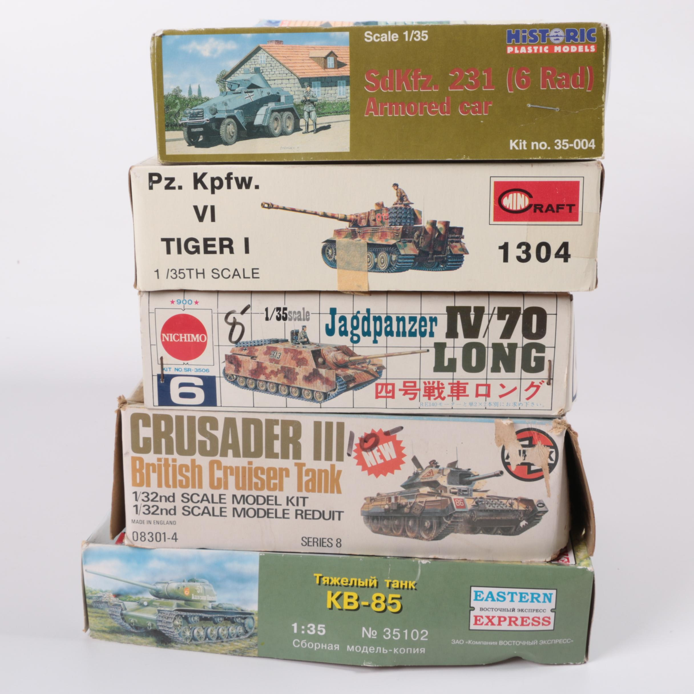 1/35 and 1/32 Scale Military Model Kits