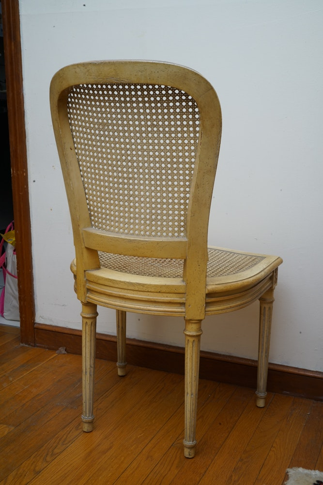 B & B Auto Sales >> French Regency Style Secretary with Caned Chair | EBTH