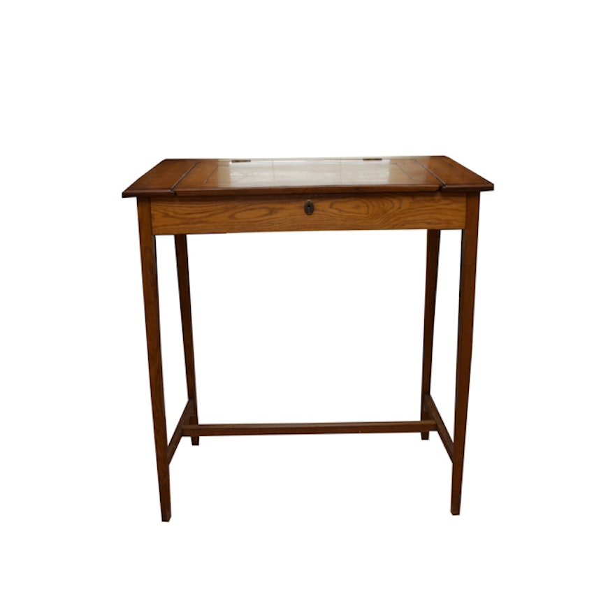 Vintage Oak Writing Desk ... - Vintage Oak Writing Desk : EBTH