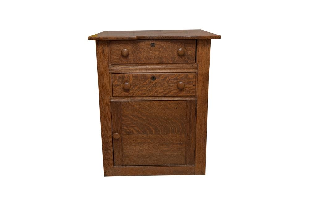 Quarter Sawn Oak Cabinet