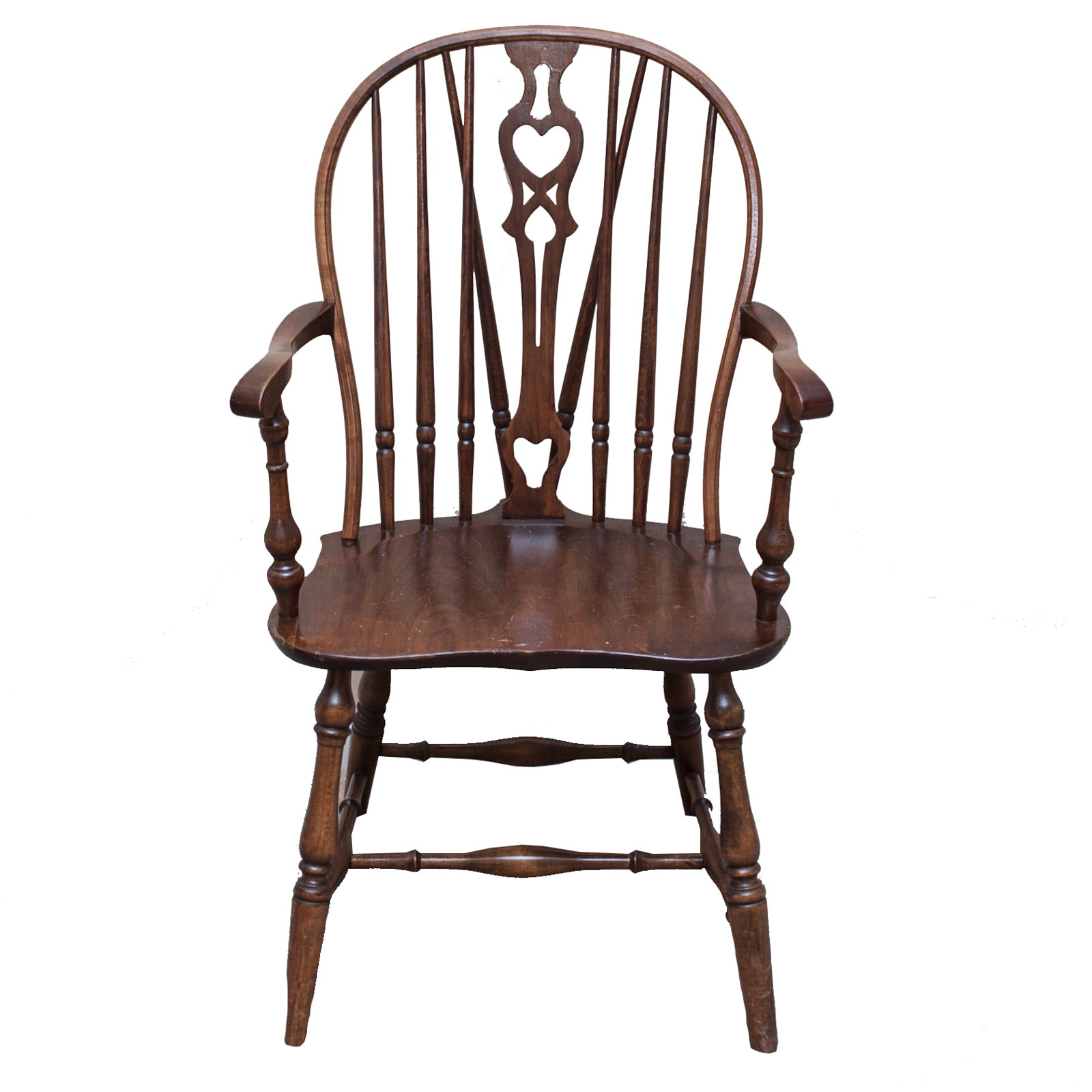 Vintage Windsor Style Wood Armchair