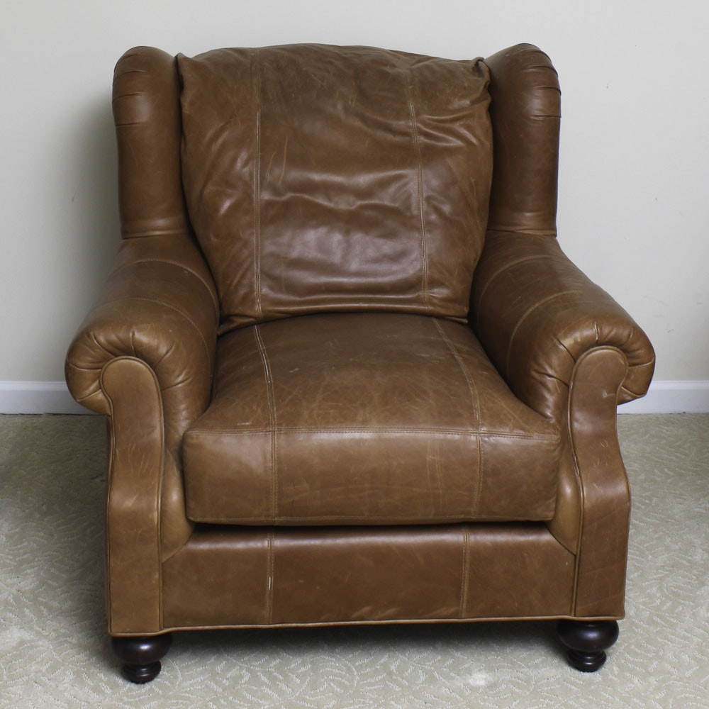 Leather Lounge Chair by Henredon