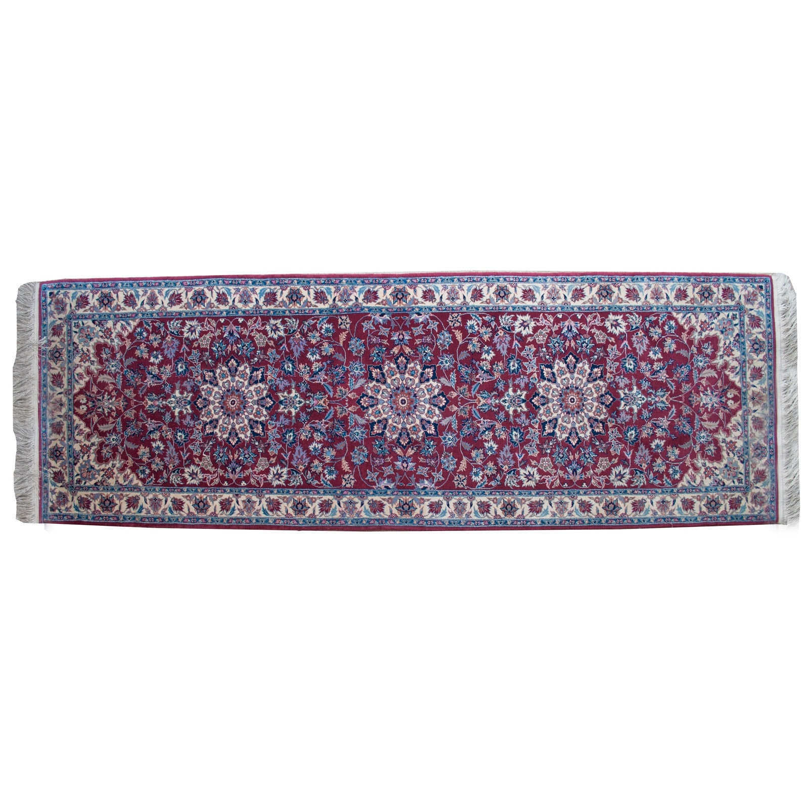 Hand-Knotted Persian Wool Runner Rug