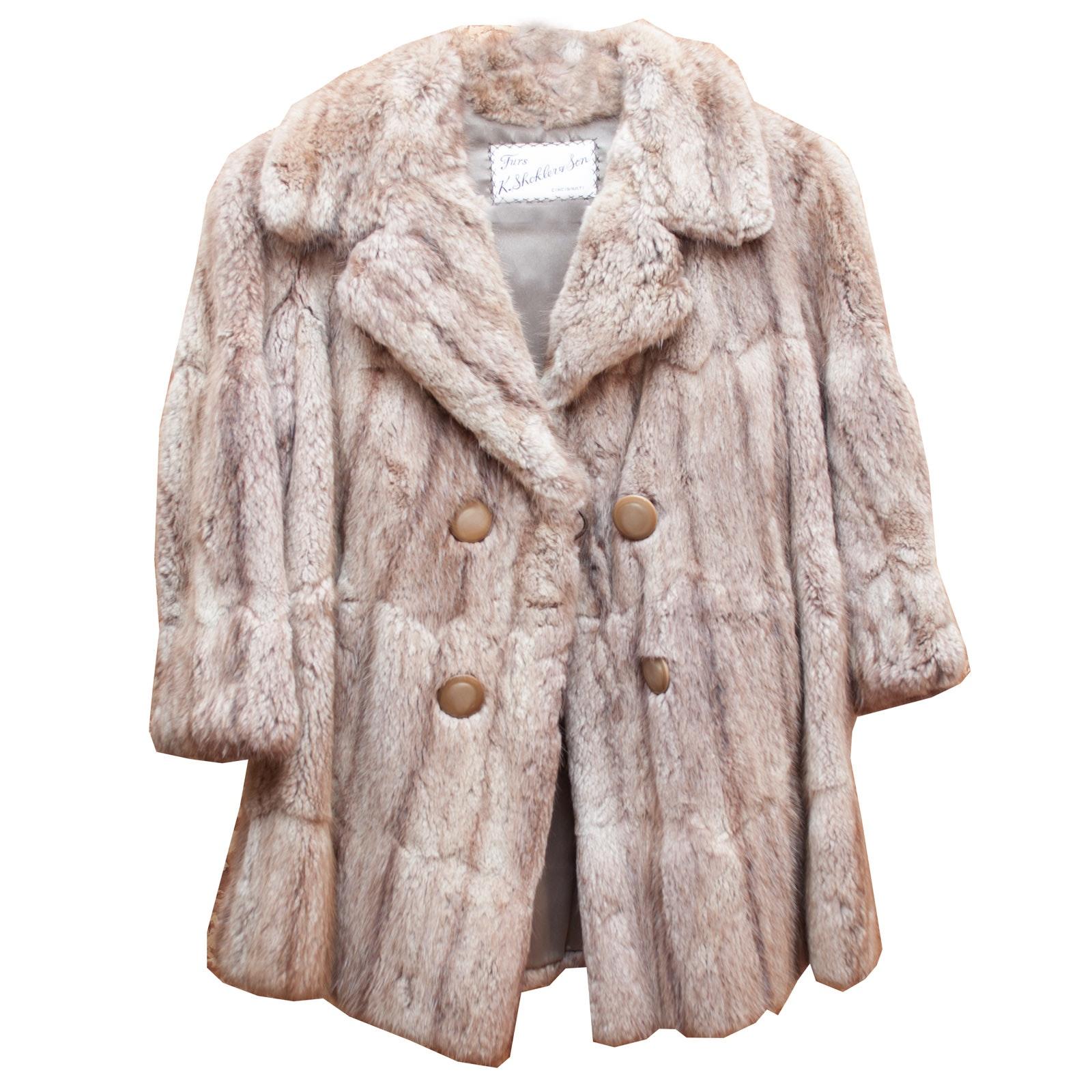 Vintage Fox Fur Coat by K. Shoklers & Son
