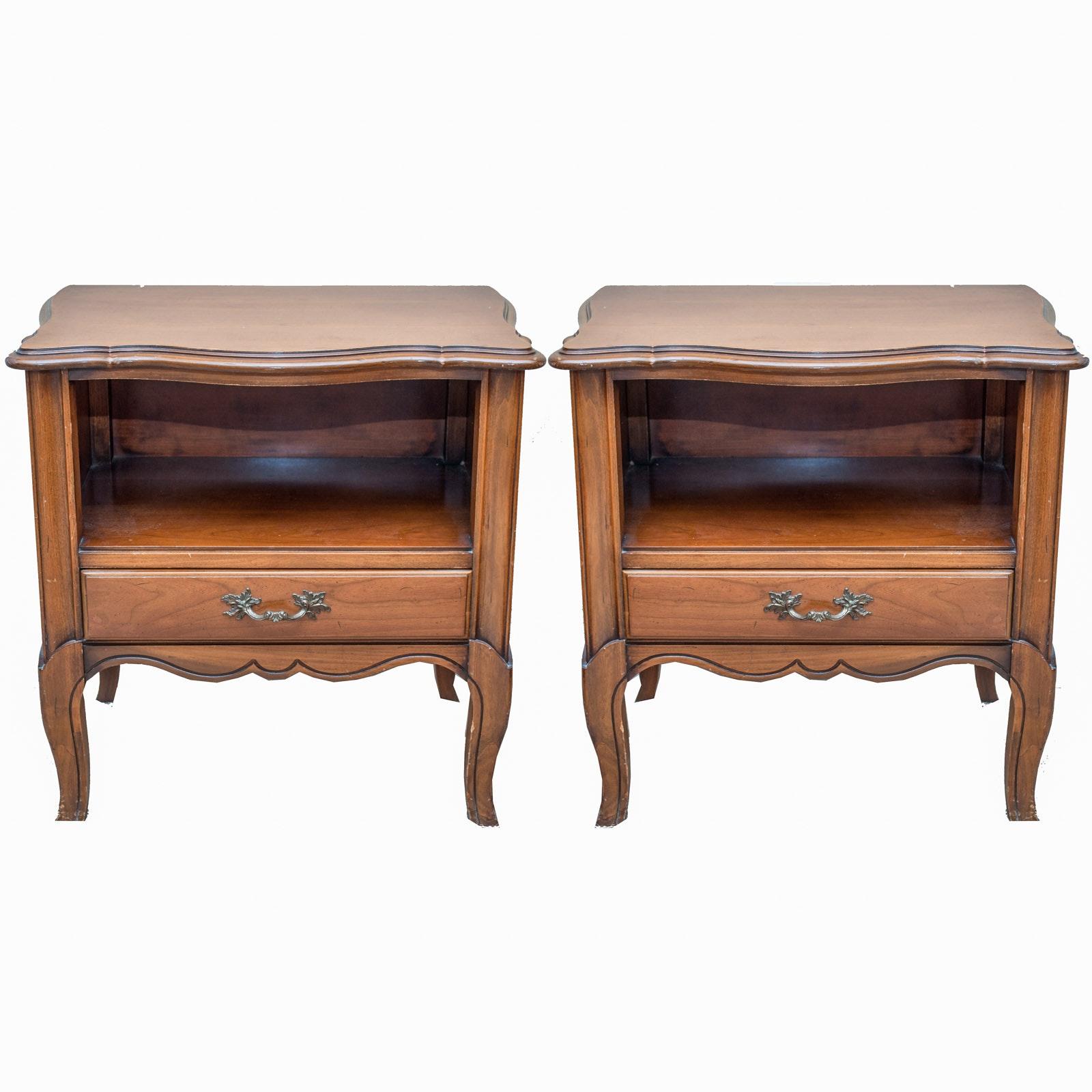 "Pair of Vintage National Furniture Co. ""Salem Cherry"" End Tables"