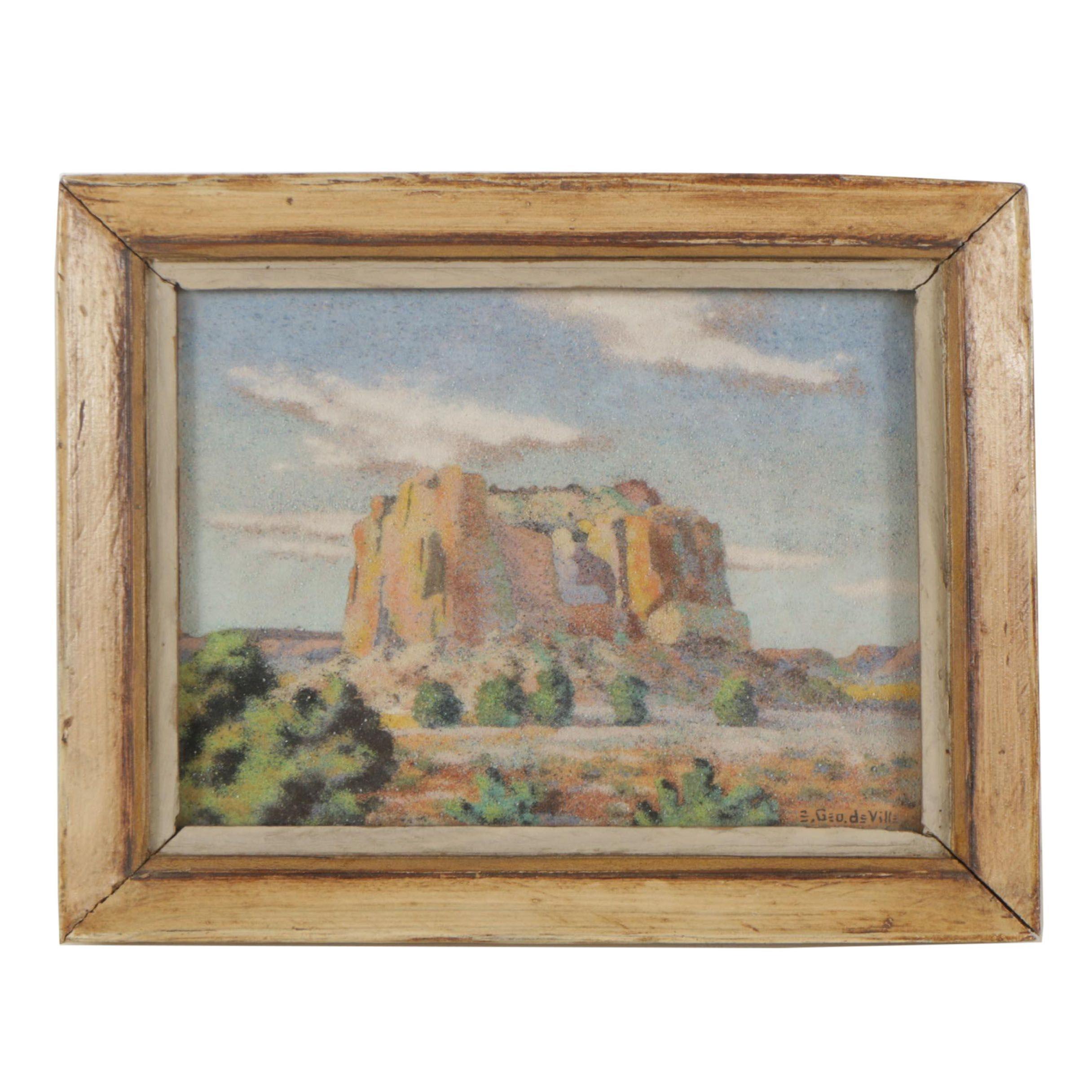 "E. George deVille Sand Art ""Enchanted Mesa"""