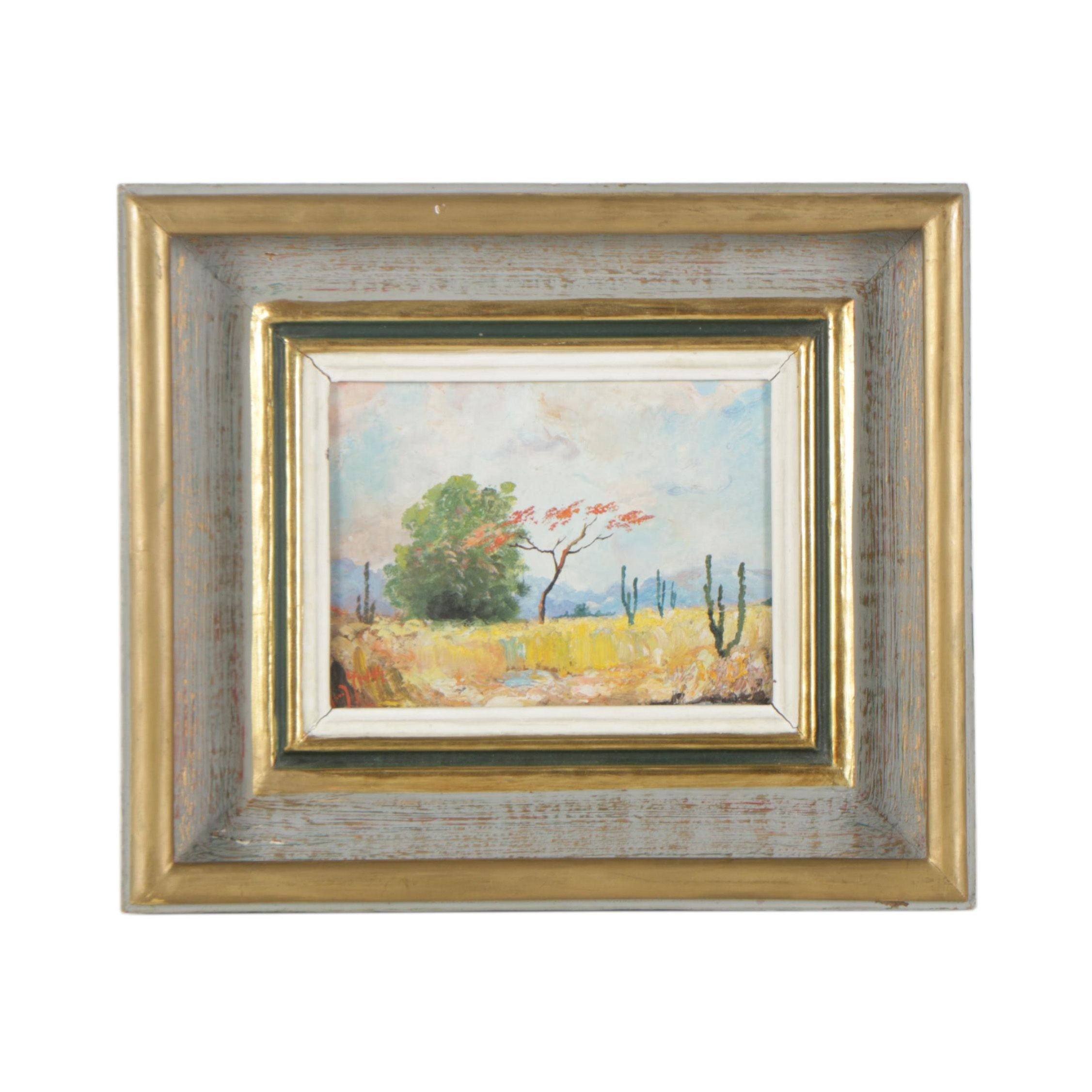 Oil Painting of a Western Landscape
