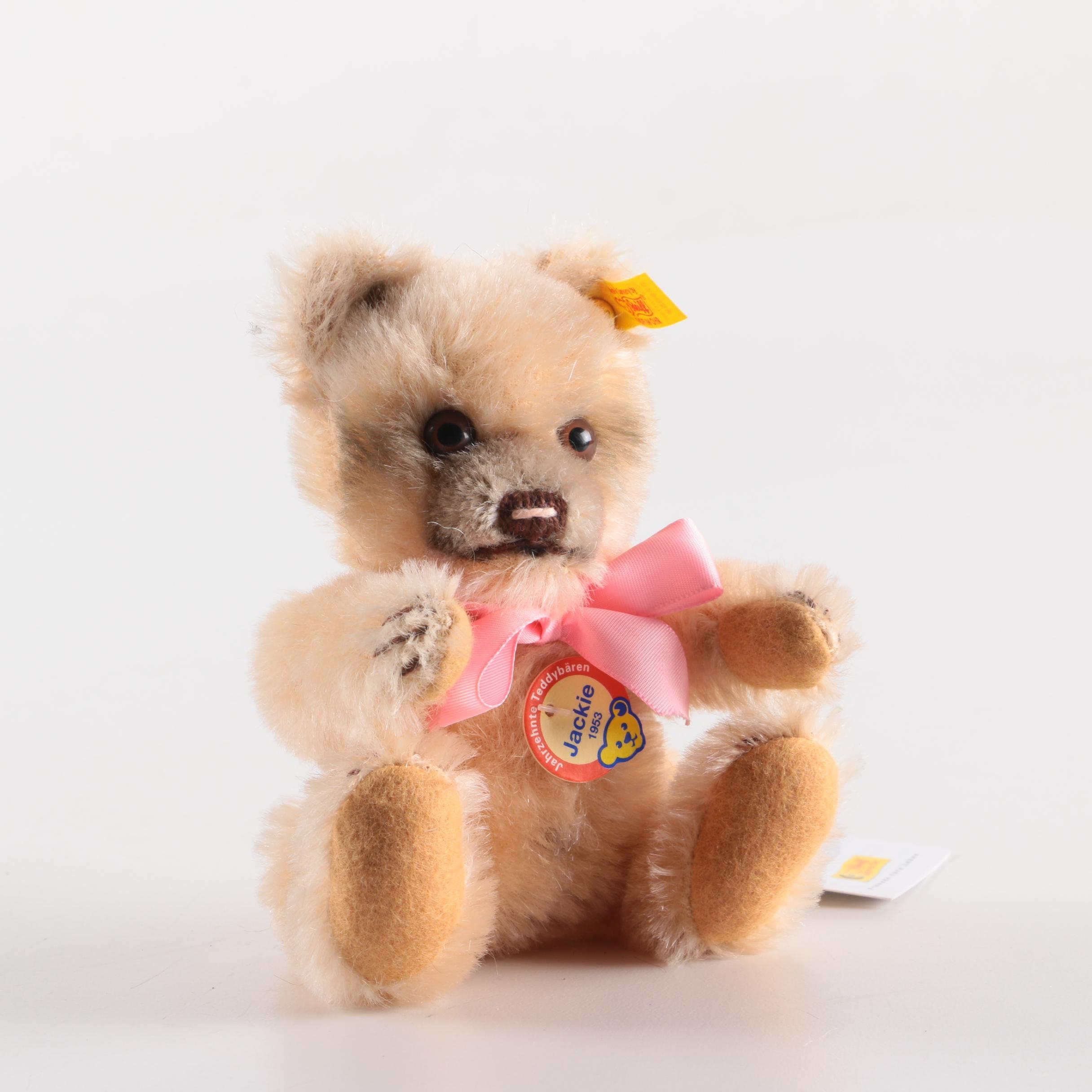 "Reproduction 1953 Steiff ""Jackie"" Stuffed Bear"