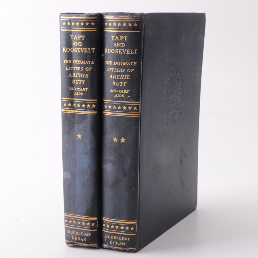"""""""Taft And Roosevelt The Intimate Letters of Archie Butt"""" by Doubleday Doran"""