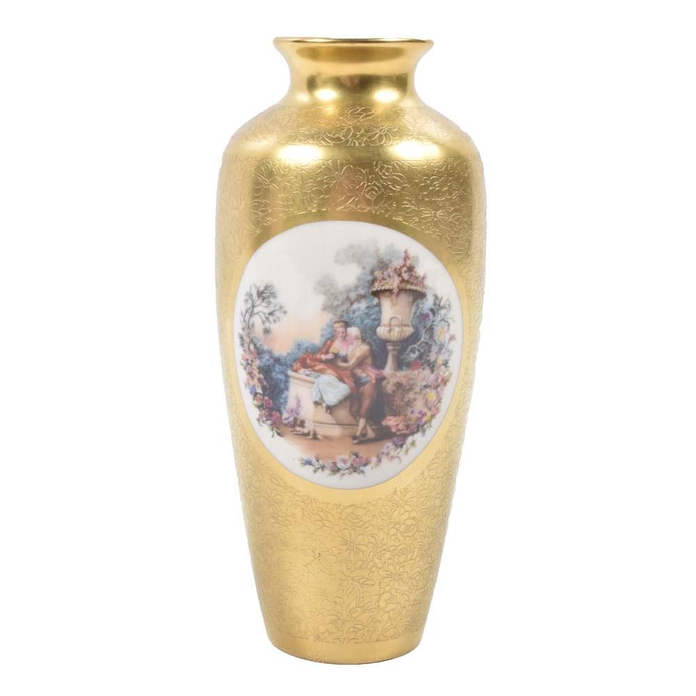 Vintage Pickard Gold Tone Vase