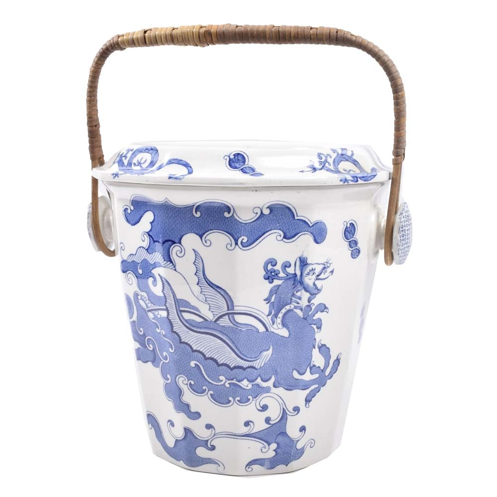 Vintage Mason's Ironstone Slop Bucket with a Dragon Design