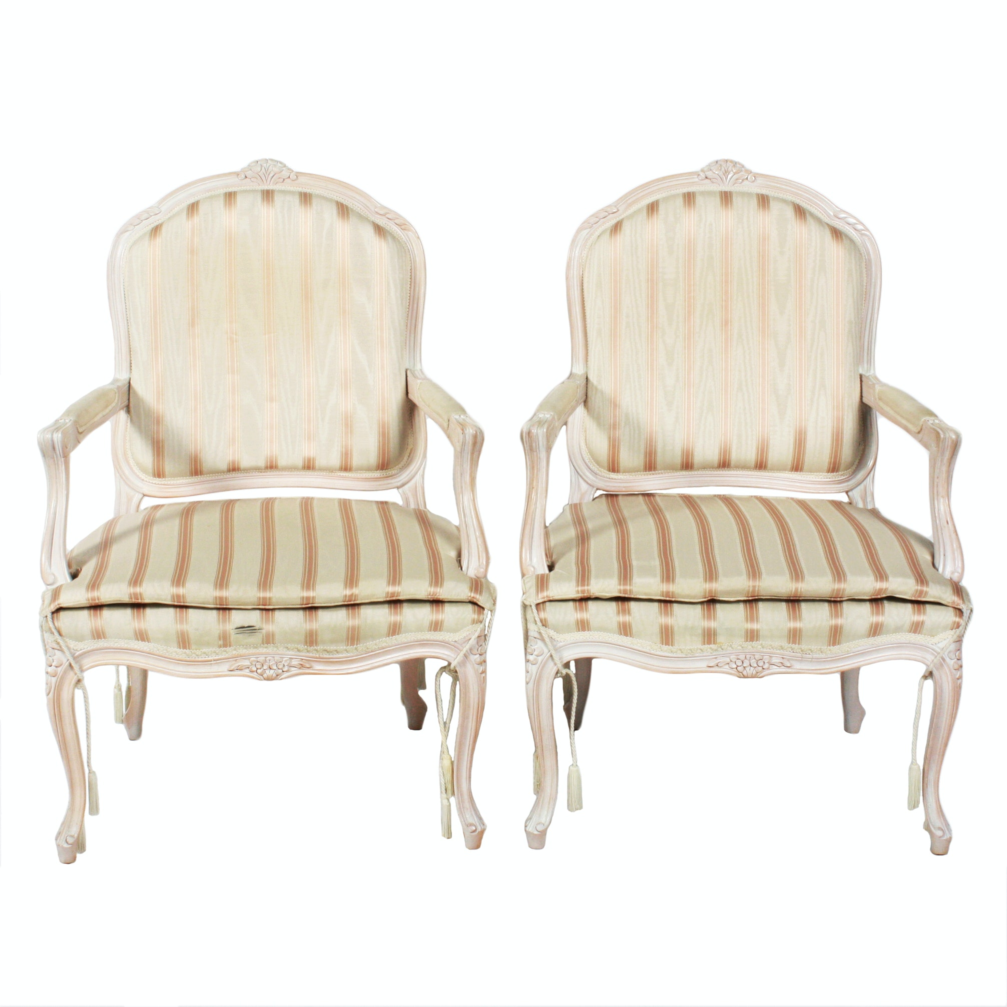 Pair of Polychrome Louis XV Style Fauteuils