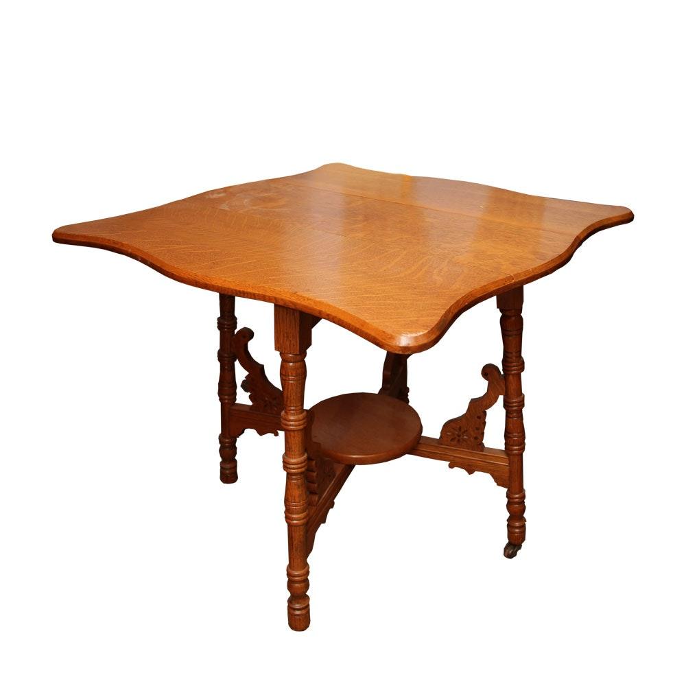 Vintage Oak Gate-Leg Table
