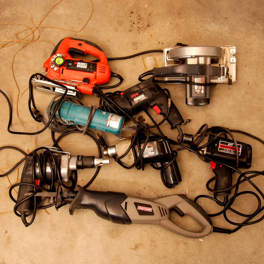 Power Tools Including Black & Decker, Skil, Makita and Craftsman