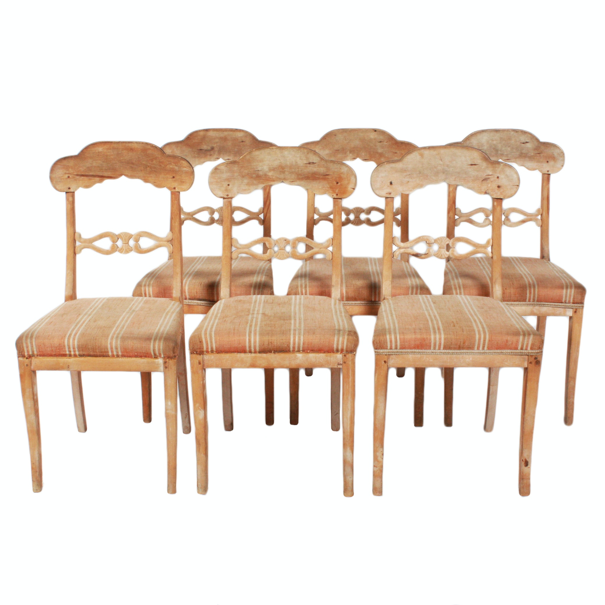 Rustic Style Upholstered Dining Chairs