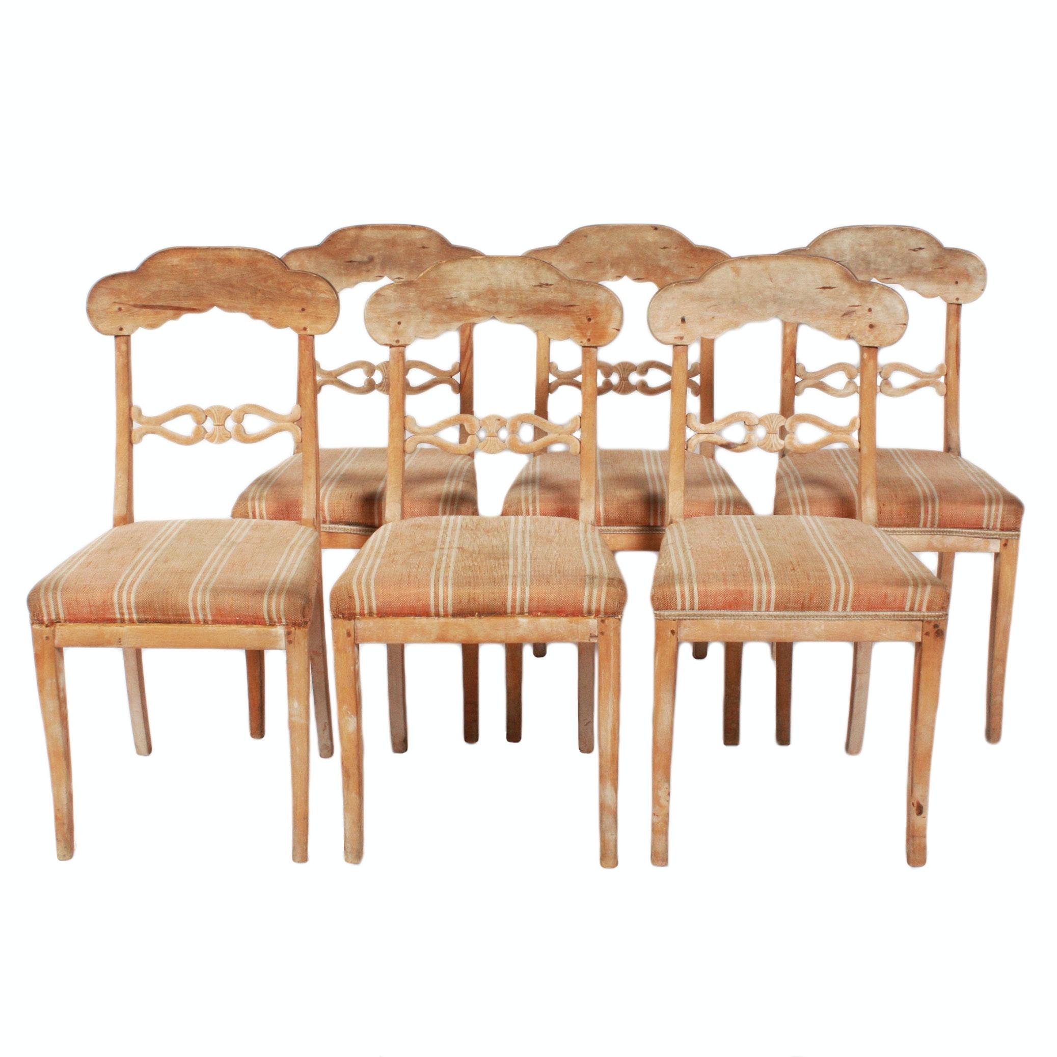 Six Swedish Biedermeier  Dining Chairs
